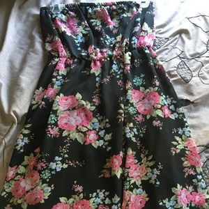 Forever 21 strapless high low dress