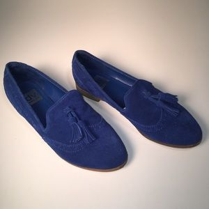 Dolce Vita Royal Blue Suede Oxfords