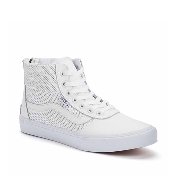 54425df6a8 Vans Milton perforated leather hightops white 8.  M 59c5afd936d594451404ac51. Other Shoes you may like. HIGHTOP VANS