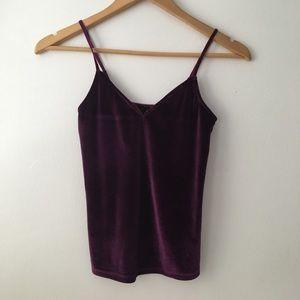 Velvet Cami in dark purple XS women's wetseal fall