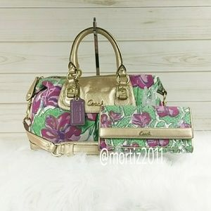 Coach Floral Satchel and Wallet