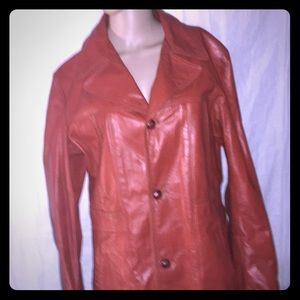 Vintage Reed Sportswear Leather  Jacket cognac