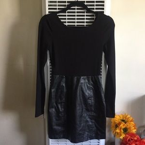 Forever 21 Dress with Faux Leather Skirt