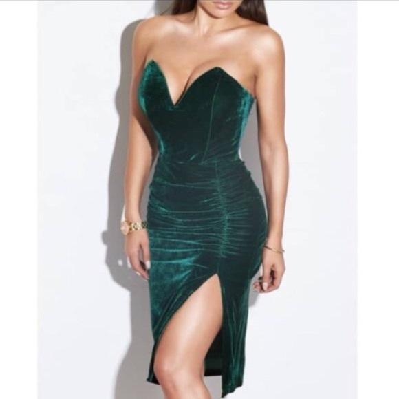 ASOS Dresses   Green Evening Dress   Poshmark