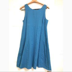 J. Crew blue shift embossed beach dress