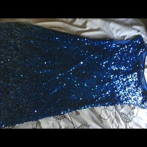 Beautiful forever 21 blue sequins dress