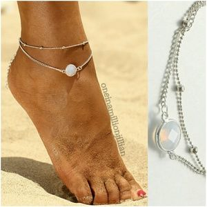 Jewelry - Double Chain Opalite Anklet/Ankle Bracelet