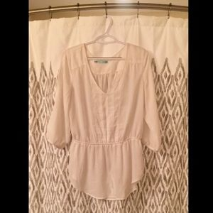 White 1/4 sleeve shirt from Maurices