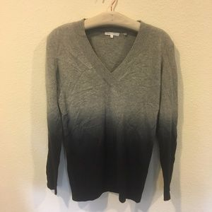 Vince gray and navy ombre v neck sweater