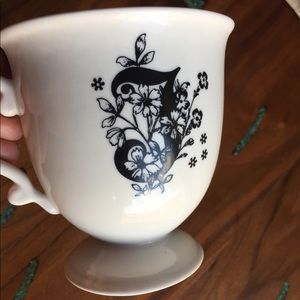 Anthropologie letter coffee mug