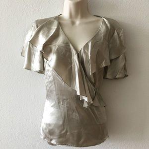 Luxurious Ralph Lauren wrap blouse