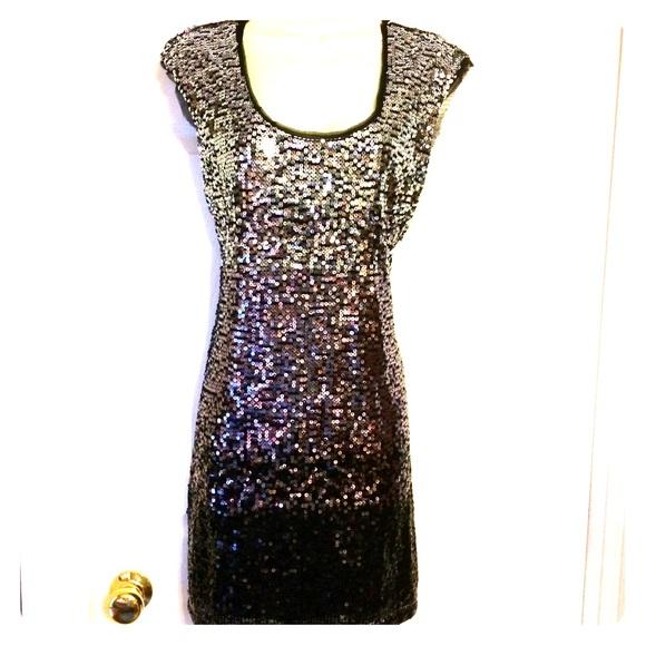 White House Black Market Dresses Ombr Sequin Dress Size M Poshmark