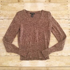 Brown/tan The Limited wool long sleeve sweater, S
