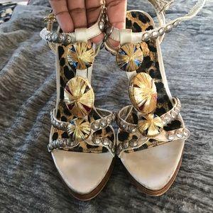 Embellished BeBe heels