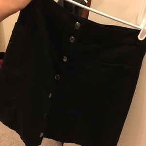 Black button up pencil skirt