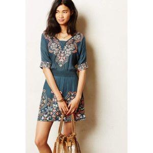 Anthropologie Baraschi Rhonda Stitch Dress