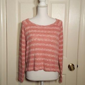Splendid Sierra Pink Striped Pullover Sweater