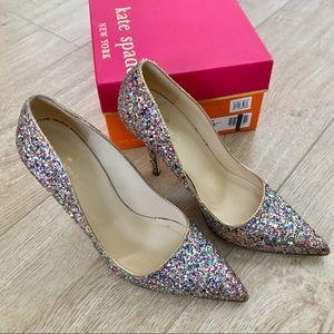 Kate Spade Glitter Pumps ♠️