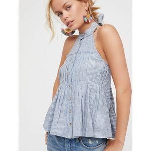 Free People Take It Easy Striped Halter