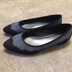 Shoes - Black and Gray Flats