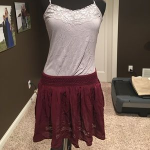 Cranberry skirt or bandeau top