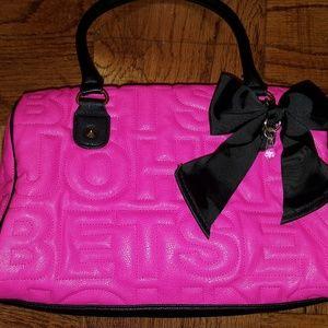 NWOT Betsey Johnson Satchel Handbag w/Gold Accents