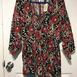 NWT forever 21 Floral Flowy Romper