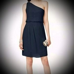 Adrianna Papell One-shoulder Chiffon Dress NWT