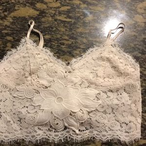 LF Lace Crop Top NWT