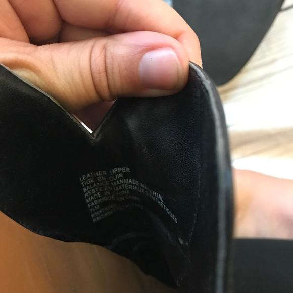 14th & Union Shoes - 14th & union black leather mules size 7 1/2