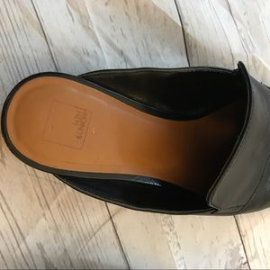 14th & Union Shoes - 14th & union black leather mules size 7 1/2