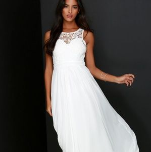 So Far Gown ivory lace dress