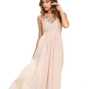 So Far Gown blush dress