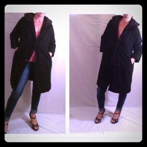 1950's Bohan Landorf wool coat with mink collar