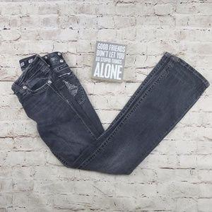 Miss Me JP5004B Boot Jeans Gray Denim Cross Pocket