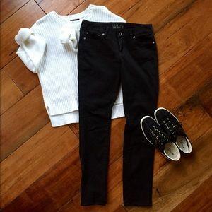 Lucky Brand Lolita Skinny Black Pants 4/27 Ankle