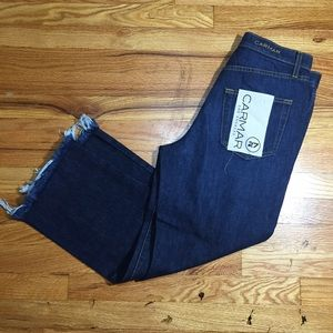 NEW Carmar Dark Denim Straight Leg  Size 27