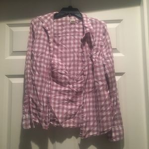 J. Crew Checkered Button Up