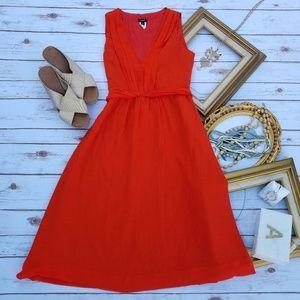 J. Crew Sleeveless Orange Dress