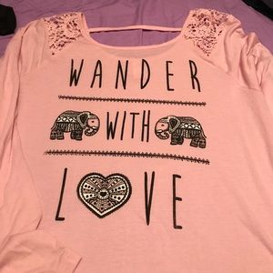 Blush colored t shirt