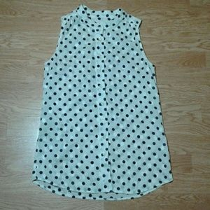 J. Crew sleeveless button up
