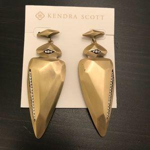 Kendra Scott Stellar Earrings in Antique Brass
