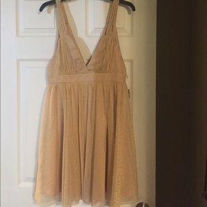Golden shimmer dress