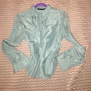 Zara pure silk blouse