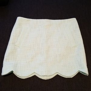 NWT Topshop Boucle Scallop Mint Mini Skirt