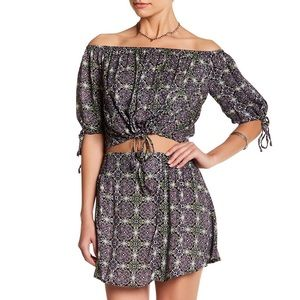 free people electric love crop top and skirt set