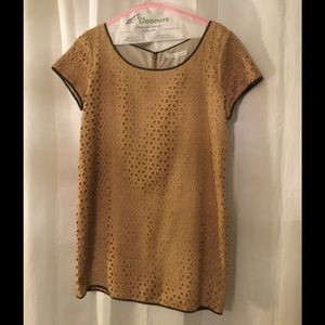 NWOT French Connection tan faux suede dress sz 12