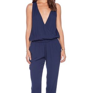 Joie Sleeveless Cross Over Wrap Jumpsuit Size L