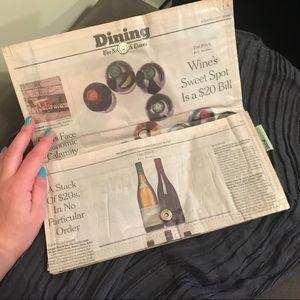 Unique Laminated Newspaper Clutch Couture Planet