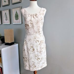 Anthropologie Windowpane Dress